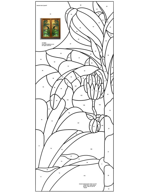 ☆ Stained Glass Patterns for FREE ☆ Tiffany Patterns for FREE 959 ☆