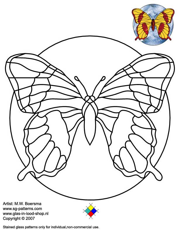 how to make a pattern for stained glass