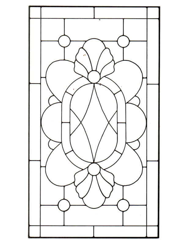 Stained Glass Patterns For FREE Pattern 111