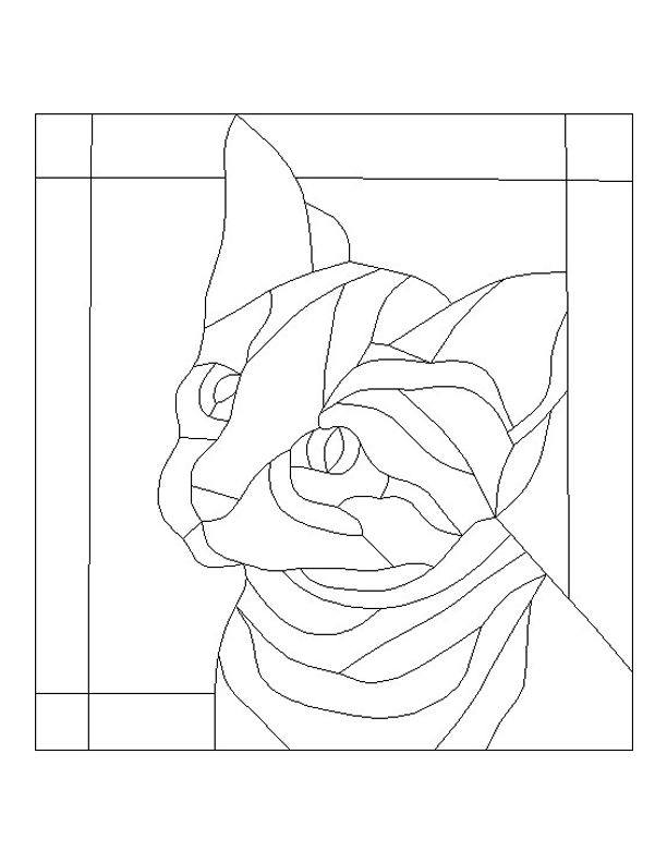Simple Dog Cat Mosaic Template