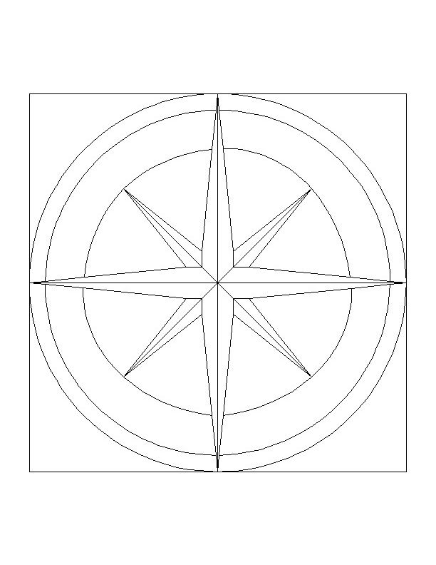 Glass Compass Rose Patterns : Stained glass patterns for free ★ pattern