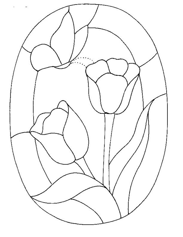 Free Coloring Pages Of Stained Glass Dove