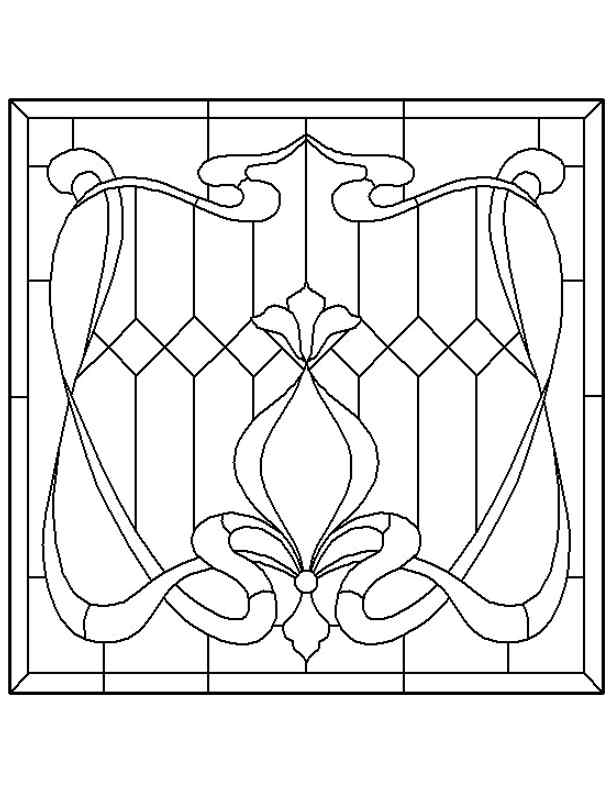 Stained glass patterns for free glass pattern 172 for Window design template