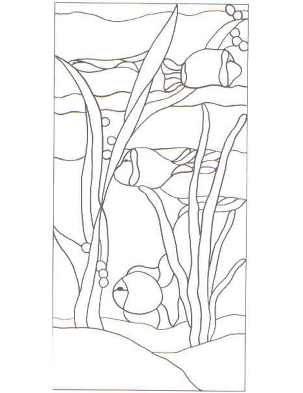 Stained glass patterns for free glass pattern 176 for Stained glass fish patterns