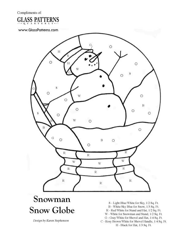 fox snow globe coloring pages - photo#17