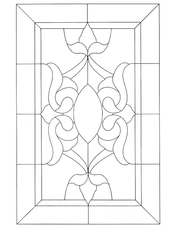 Stained Glass Patterns for FREE ★ glass pattern 475 ★