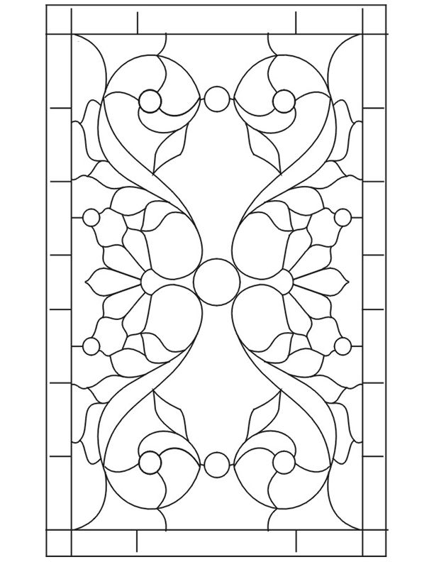 Stained Glass Window Patterns : Stained glass patterns for free ★ pattern