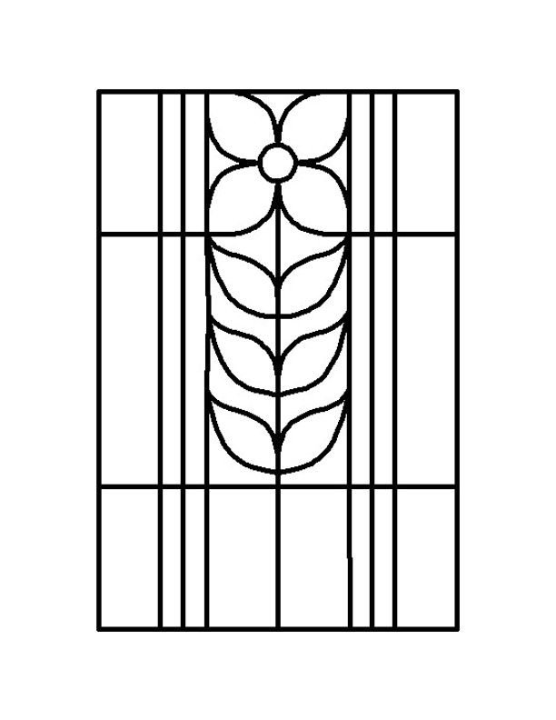 Stained glass patterns for free glass pattern 739 for Professional window treatment patterns