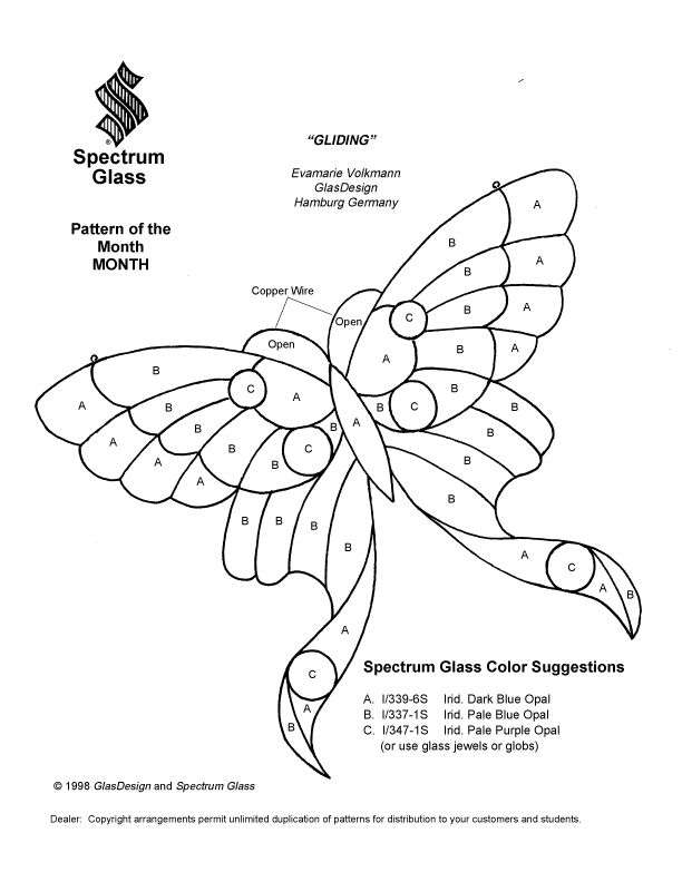 Stained glass patterns for free./glass pattern 993 butterfly.jpg