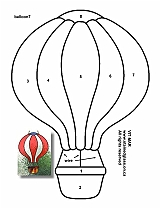 Tiffany Patterns for FREE 954 Air Balloon