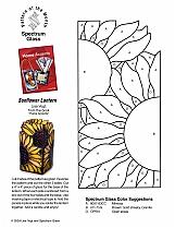 glass pattern 006 SunflowerLantern